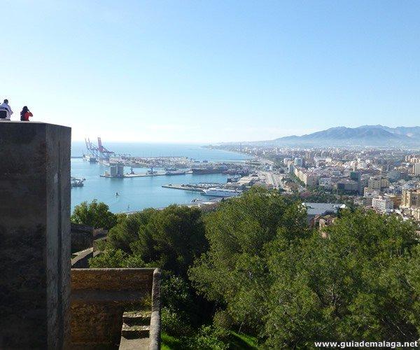 Castillo de Gibralfaro, Ciudad de Málaga, Costa del Sol, Andalucía, España.