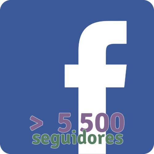 Más de 5500 seguidores fanpage