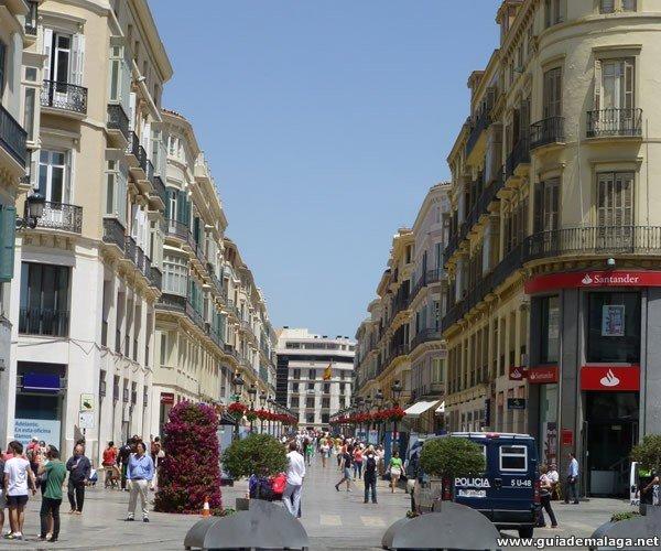 Calle Marqués de Larios, Centro Histórico de Málaga, Costa del Sol, Andalucía, España.
