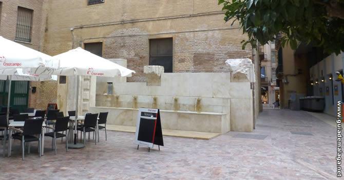 Fuente de la Plaza de las Flores.