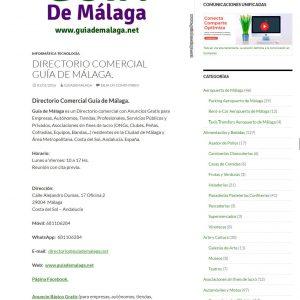 Ejemplo de Anuncio Básico Gratis Guía de Málaga