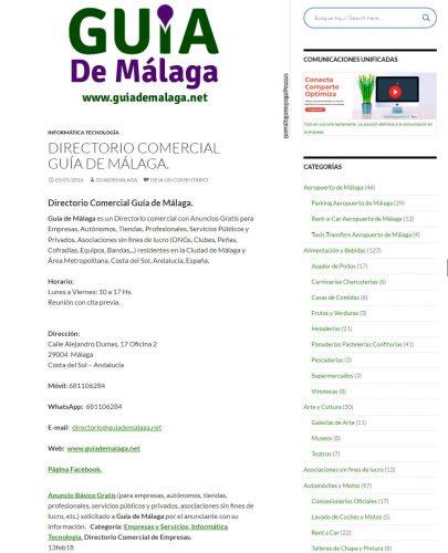 Anuncio Básico Gratis en Guía de Málaga y Costa del Sol