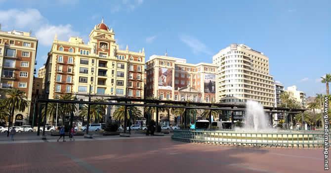 Plaza de la Marina, Málaga.